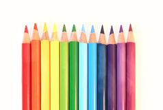 Color pancil rainbow Stock Images