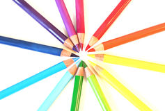 Color pancil rainbow circle Royalty Free Stock Photography