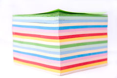 Color paper. On white fone Stock Photo