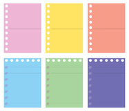 Color paper. Illustration of letter pad color paper Stock Photography