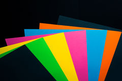 Color paper Stock Image