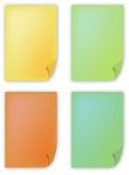 Color Paper. Four different color paper illustration Stock Image