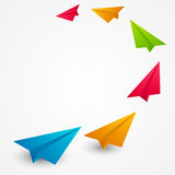 Color paper airplanes Royalty Free Stock Photography