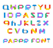 Color paper alphabet illustration Royalty Free Stock Photography