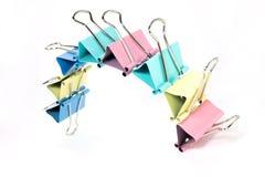 Color paper clip Stock Image