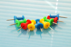 Color paper clips Royalty Free Stock Images
