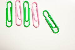 color paper clips Royalty Free Stock Image