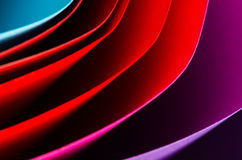 Color paper. Close up, variety of colors royalty free stock image