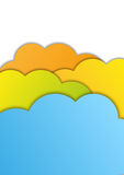 Color paper clouds Royalty Free Stock Image