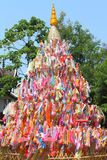 Color paper flag for Buddha worship. Many Color paper flag in temple of Thailand,For Buddha worship Stock Photography