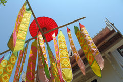 Color paper flag for Buddha worship Stock Photography