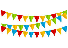 Color paper flags Royalty Free Stock Photography