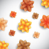 Color paper flowers Stock Photography