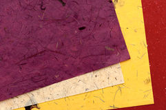 Color paper of handwork Royalty Free Stock Photos