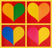 Color paper hearts Royalty Free Stock Photography