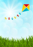 Color paper kite Stock Image