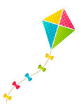 Color paper kite. On white background Stock Images
