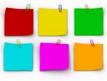 Color paper leaflets Stock Photography