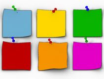 Color paper leaflets Royalty Free Stock Images