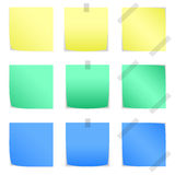 Color paper note. Set of color paper note on white background Stock Image