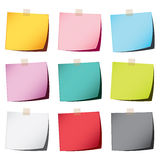 Color paper note Stock Photography
