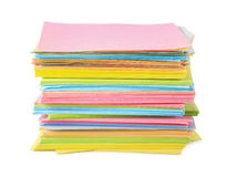 Color paper notes Stock Image