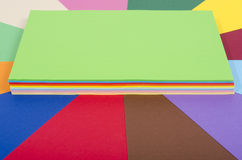 Color paper piled. Royalty Free Stock Image
