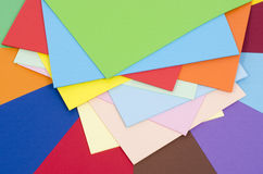 Color paper piled. Stock Photography