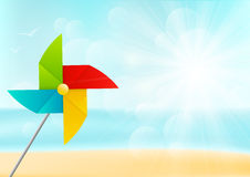 Color paper pinwheel Stock Image
