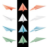 Color paper planes Stock Images