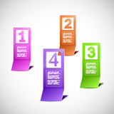 Color paper progress figures Royalty Free Stock Image