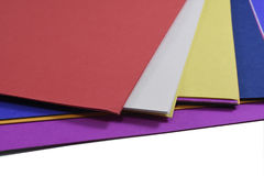 Color paper. Red, yellow, purple, blue stock photo