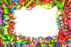 Color paper ribbon frame stock photography