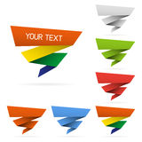 Color paper ribbons Stock Photography