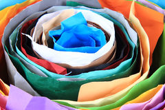 Color paper roll background Royalty Free Stock Photos