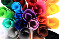 Color paper rolls royalty free stock photo