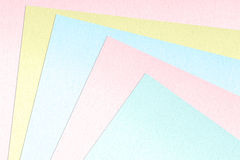 Color paper samples Royalty Free Stock Photography