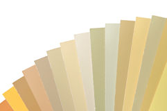 Color paper samples Royalty Free Stock Photos