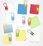 Color paper sheets Royalty Free Stock Images