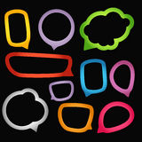 Color paper speech clouds Stock Photo