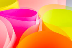Color paper variety arc wave form. Royalty Free Stock Photography