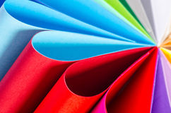 Color paper variety Stock Image