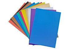 Color paper on white Stock Photo