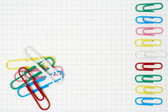Color paperclips Royalty Free Stock Images
