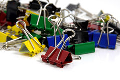 Color Paperclips Royalty Free Stock Photos