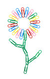 Color paperclips flower Stock Images