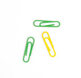 Color paperclips isolated Royalty Free Stock Image