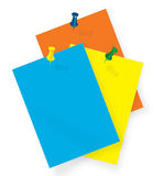 Color papers. Color note papers. ai file available royalty free illustration