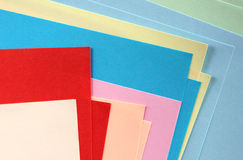 Color papers Stock Image