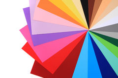 Color papers background Stock Images